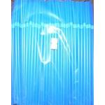 Трубочки кокт. 0,5*21 см.250 шт/уп. синие с гофрой MONO /48/