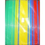 Трубочки кокт. 0,5*21 см.  250 шт/уп. цветные прямые MIX /1/48/