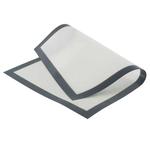 Коврик для выпечки 60*40 см. силиконовый белый, бежевый на ткан.основе /1/
