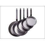 Сковорода d=24 см. белая сталь Carbone Steel (индукция) De Buyer /1/3/