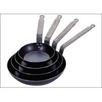 Сковорода d=26 см. голубая сталь 2 мм. (индукция) De Buyer /1/6/