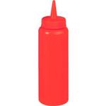 Емкость для соуса375 мл. с крышкой красная MG /1/24/ ТП