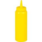 Емкость для соуса375 мл. с крышкой желтая MG /1/24/ ТП