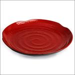 Тарелка круглая d=26,5 см. h=3 см. ч/кр /1/ Под заказ