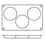 "Форма сил.для зам.и вып. ""Бисквит"" 3 порц. d=103 h=20 мм. /1/ (SA0042) - Под заказ"