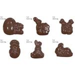 Форма для отлив.шок.конфет (яйцо и 5 видов кроликов) /1/ - Под заказ