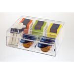 Контейнер для пакетиков чая 4 отд. 22*17*9 см. пласт. прозрачная APS