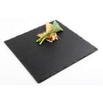 Блюдо для подачи квадр. 25*25 см. черное, сланец APS /1/