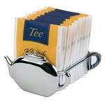Контейнер для пакетиков чая (на 15 пакетиков) 8,5 *8,5*5 см. нерж. APS