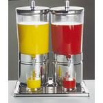 Диспенсер для соков, холод.напитков, 2*6 л h=52 см. нерж. колба пласт. прозр. с 2 охлажд элем. APS